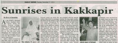 Sunrises in Kakkapir